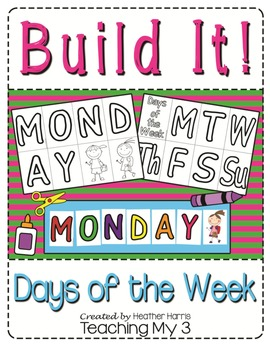 Days of the Week Cut and Paste