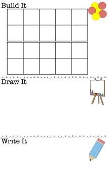 Build It, Draw It, Write It Math Mats