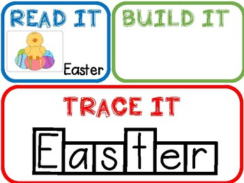 Build It-Easter Words!