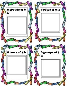 Build It - Multiplication Task Cards