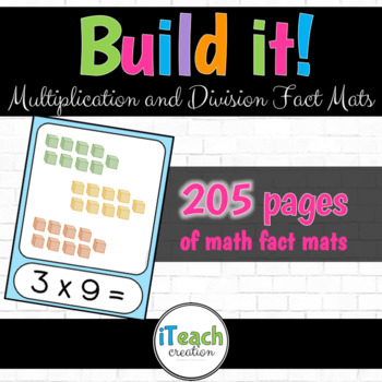 Build It! Multiplication and Division Math Fact Mats