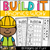 Build It Phonics Worksheets - CVC, Long Vowels, Digraphs, Blends & More!