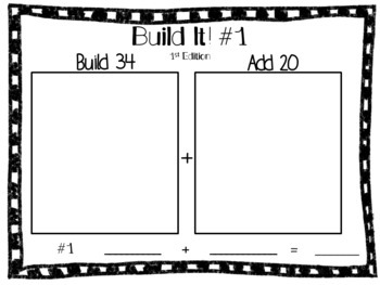 Build It! 1st Edition Place Value Activity with Adding on Tens