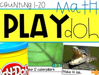 Build-It Number Sets! Play-Doh Counting Photo Cards (Numbers 1-20)