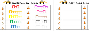 Build It Pocket Chart Activity (ColourWords)
