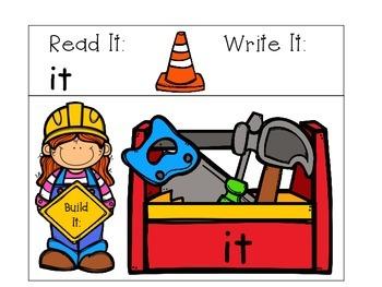 Build It Sight Word Mats