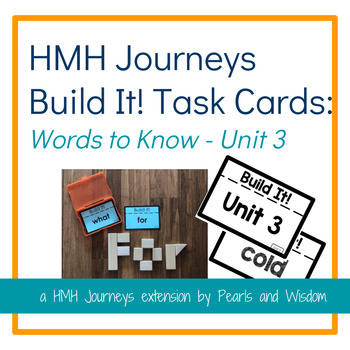 Build It! Task Cards - Journeys Unit 3 - Words to Know