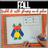Build It With Shapes and Solve! Fall Pattern Block Puzzles with Math Activity