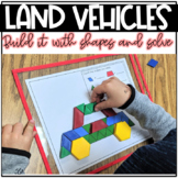 Build It With Shapes and Solve! Land Vehicles Pattern Block Puzzles
