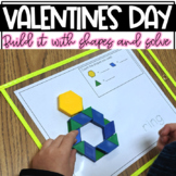 Build It With Shapes and Solve! Valentine's Day Pattern Block Puzzles