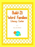 Build It Word Families Literacy Center