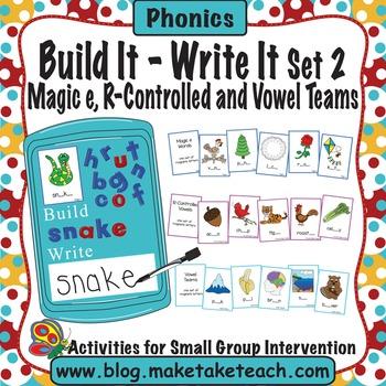 Build It -Write It Cookie Sheet Activities Set 2