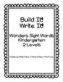 Build It and Write It Kindergarten Wonders Sight Words