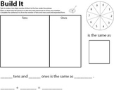 Build It - repeated place value practice with two digit numbers