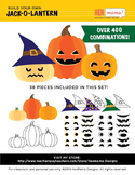 Build Jack O' Lantern Pumpkin Clip Art Set! Ready for Fall Fun!