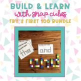Build & Learn with Snap Cubes {Fry's First 100 Sight Words