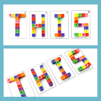 Build Letters and Words with Connecting Cubes - Upper Case