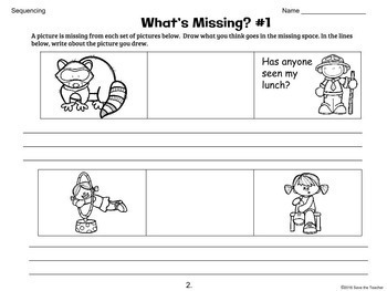 Sequencing Activities and Time Order Words