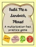 Build Me a Sandwich, Please! Multiplication Fact Game