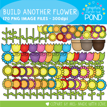 Build More Flowers Clipart Pack