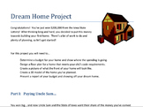 Build My Dream Home Math Project (Middle School)