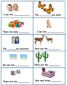 Build Plurals:  Complete the Sentence Task Cards