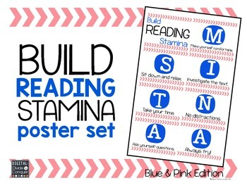 Build READING STAMINA Posters (Blue & Pink)