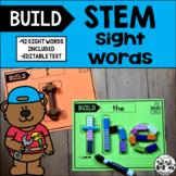 WONDERS Kindergarten BUILD STEM Sight Words