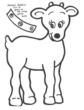 Build Santa's Sled and Reindeer Color-in Activity!