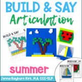 Build & Say: Summer Brick Articulation