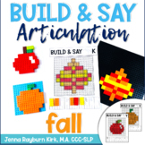 Build & Say: Fall Brick Articulation