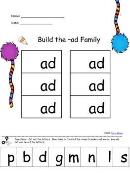 Build Short a Word Families