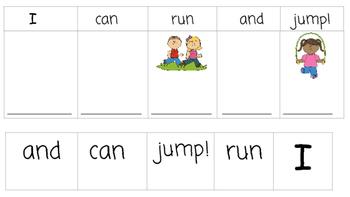 Build Sight Word Sentences-7 pages!