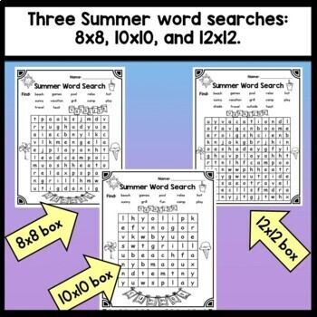 Summer Sight Word Activities {Find and Write 80 Common Sight Words!}