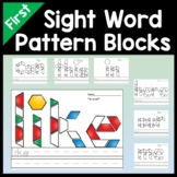 First Grade Sight Words with Pattern Blocks {41 Words!}
