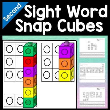 Sight Word Stations with Snap Cubes {46 words!}
