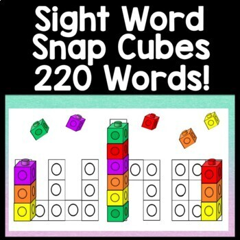 Sight Word Practice using Snap Cubes {220 Pages!} Sight Word Activities
