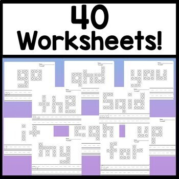 Kindergarten Literacy Centers with Snap Cube Words {40 Pages!}