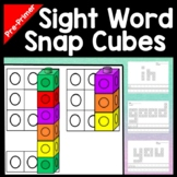 Sight Words Centers with Snap Cubes {40 Pages} Sight Words for Kindergarten