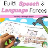 Build Speech and Language Fences Bundle!