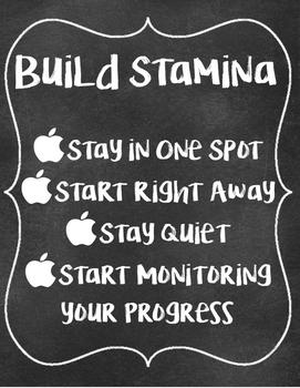 Build Stamina Poster