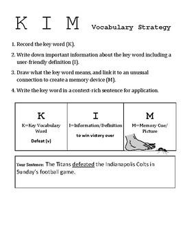 Build Student Vocabulary, vocabulary worksheet
