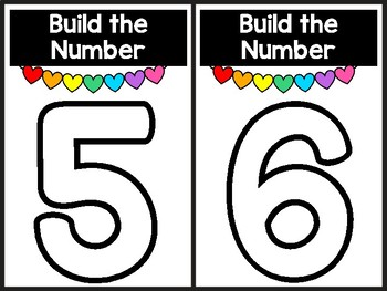 Build The Number Valentine Hearts