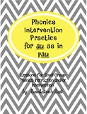 Build Up Phonics Extra Practice for aw as in paw