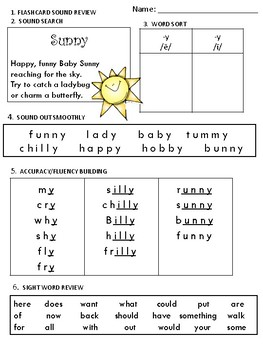 Build Up Phonics Extra Practice for -y as long e