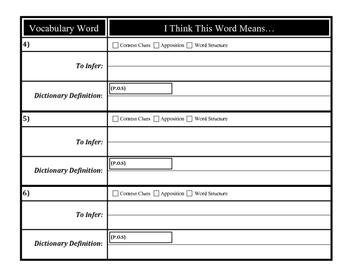 Build Vocabulary - Unfamiliar Words