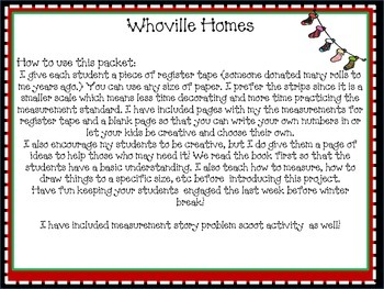 Whoville Measurement and Measurement Story Problems