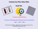 Build, Write, Talk, Compare Large Numbers- Place Value Slides For First Grade