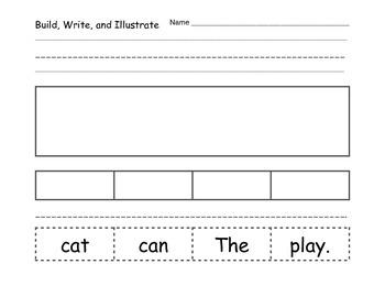 Build, Write, and Illustrate Sentences