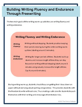 Build Writing Fluency & Endurance through FreeWriting